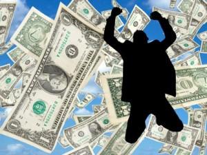 money-man-jumping