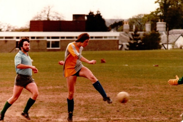 Ian Thompson back in the days of grass fields!